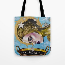 Eclipse 1 (Myth about the sun & stars) Tote Bag