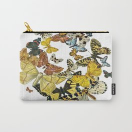 A Kaleidoscope Of Vintage Butterflies Vector Carry-All Pouch
