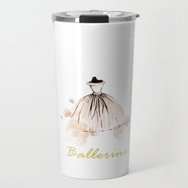 Pink Ballerina Flowers Travel Mug