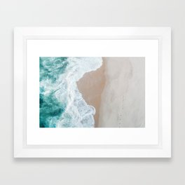 Ocean Mint Framed Art Print
