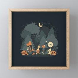 Halloween Forest Framed Mini Art Print