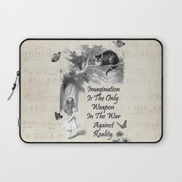 Alice In Wonderland Quote - Imagination Laptop Sleeve