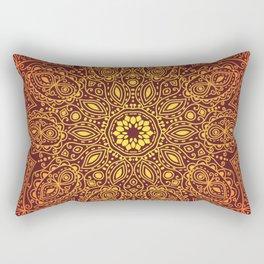 Firey Mandala Rectangular Pillow