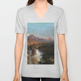 View of Cotopaxi - Frederic Edwin Church Unisex V-Neck