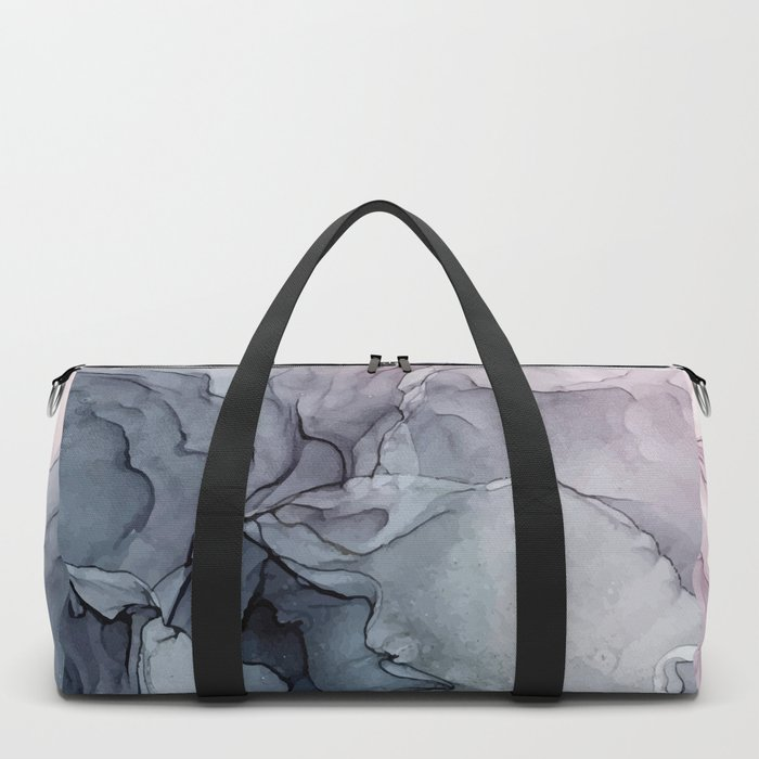 Blush and Payne's Grey Flowing Abstract Painting Sporttaschen