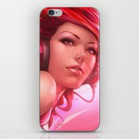 artgerm iPhone & iPod Skins featuring Pepper Freedom by Artgerm™