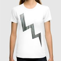 lightning T-shirts featuring Lightning  by Ethna Gillespie
