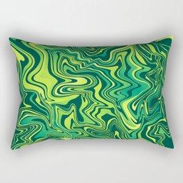 Green Lime Marbled Agate Rectangular Pillow