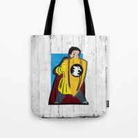 dungeons and dragons Tote Bags featuring DUNGEONS & DRAGONS - ERIC by Zorio
