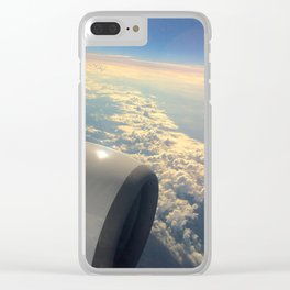 Sun And Clouds From Plane Clear iPhone Case