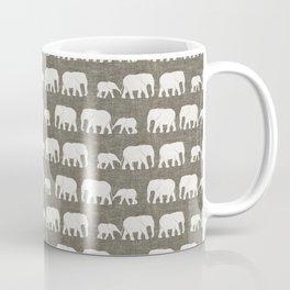 elephant march - taupe Coffee Mug