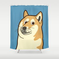 doge Shower Curtains featuring Doge by evannave