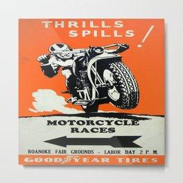 Vintage poster - Motorcycle Races Metal Print