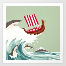 Sharkwave Art Print