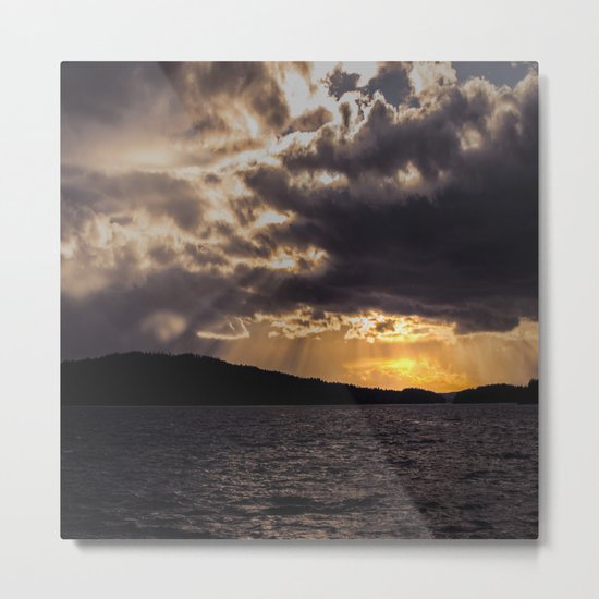 Dramatic change in the weather Metal Print