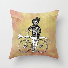 Bear's Bike Throw Pillow