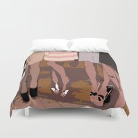 legs Duvet Covers featuring legs by yayanastasia