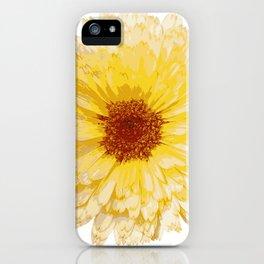 Beautiful Yellow Marigold Vector Isolated iPhone Case