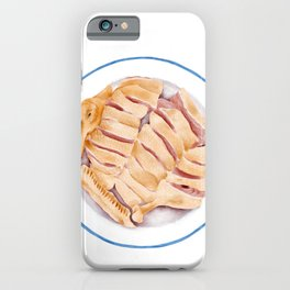 Watercolor Illustration of Chinese Cuisine - Boiled salted duck   盐水鸭 iPhone Case