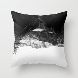 Crystal Mountain Throw Pillow