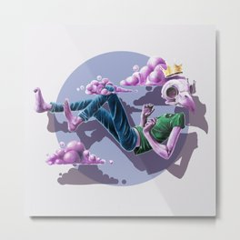 Chilling Among The Clouds Metal Print