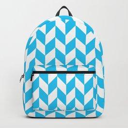 Maritime Aqua Teal Chevron Herringbone ZigZag - Mix & Match Backpack