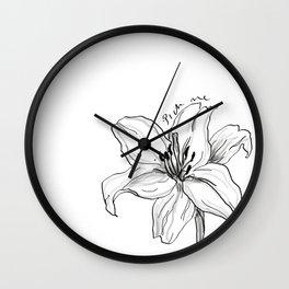 LILY - Pick Me! Wall Clock