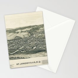 Aerial View of St. Johnsville, New York (1890) Stationery Cards