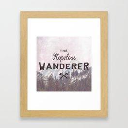 The Hopeless Wanderer Framed Art Print