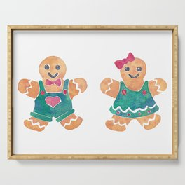 Gingerbread Boy and Girl Serving Tray
