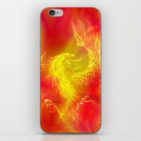 phoenix iPhone & iPod Skins featuring Phoenix by Paula Belle Flores