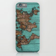 Wood Map Slim Case iPhone 6