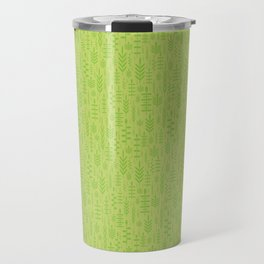 Soft green leaves Travel Mug