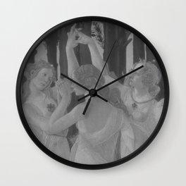 Black White Primavera Wall Clock