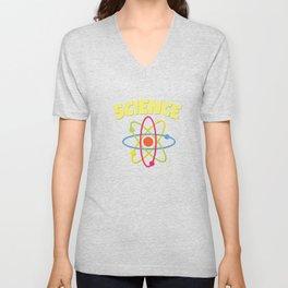9 Science Geek Nerd Mathematics Algebra funny Tshirt new Unisex V-Neck