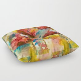 Abstract flowers Floor Pillow