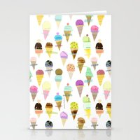 ice cream Stationery Cards featuring Ice cream  by maria carluccio