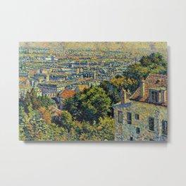 Classical Masterpiece 1900 'Paris - Montmartre' by Maximilien Luce Metal Print