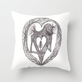 Sacred Pine Grove Of The Heart Throw Pillow