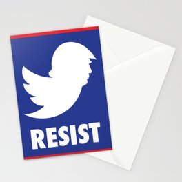 RESIST TRUMP TWITTER Stationery Cards