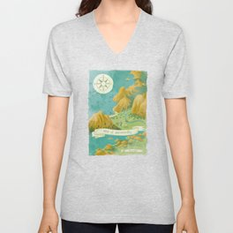 Moominvalley Map Interpretation (1/3) Unisex V-Neck