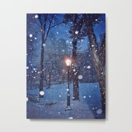 A light in the storm Metal Print