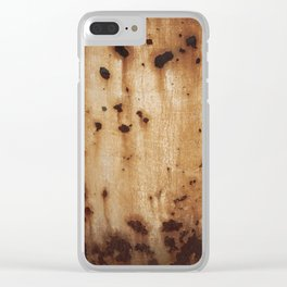 Rust at it's best Clear iPhone Case