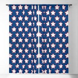 Patriotic Stars on Blue Blackout Curtain