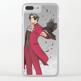 Fake Poster Miles Edgeworth: Ace Attorney Clear iPhone Case