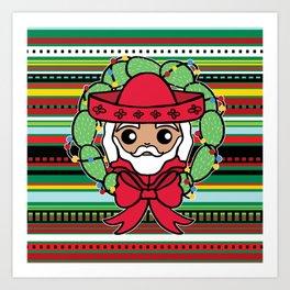 Santa Claus Serape Art Print