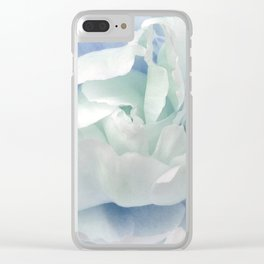 Peony in Blue White Clear iPhone Case