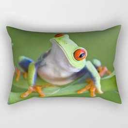 Red-eyed Tree Frog Rectangular Pillow