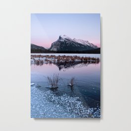 Silent Sunset over Mt. Rundle Metal Print