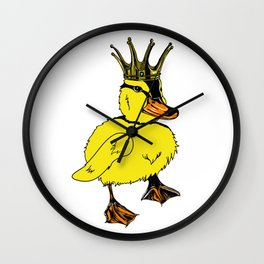 Duck King Wall Clock